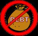 no debt